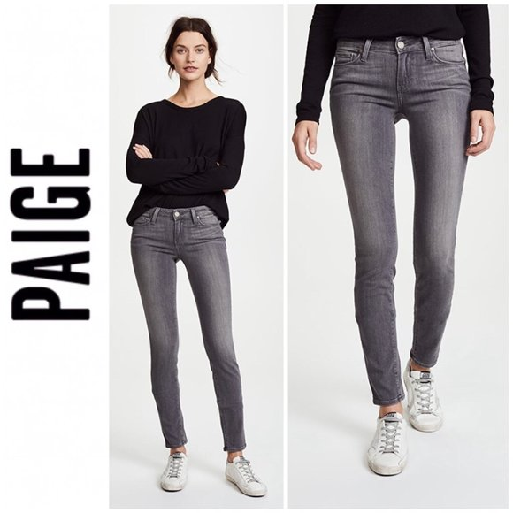 PAIGE 27 Verdugo Ankle Gray Denim Jean